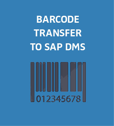 Transmit bar codes in SAP DMS - SEAL Systems