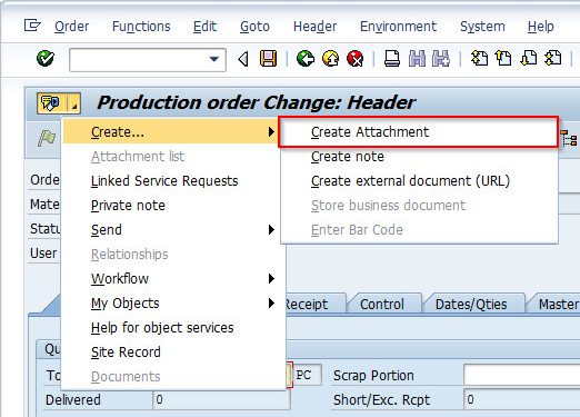 2_open_GOS_Menue_en Link Generic Object Service (GOS) documents in SAP through Object Services