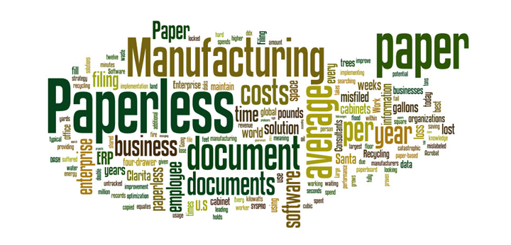 Paperless-Word-Cloud Recipe for Success – Paperless Production