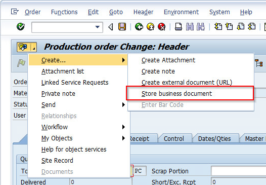 1_BDS_menu_en How can I link Business Document Services (BDS) documents in SAP through Object Services?