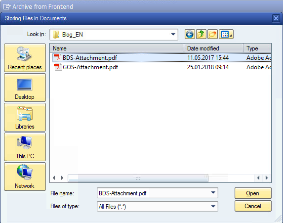 3_upload_file_en How can I link Business Document Services (BDS) documents in SAP through Object Services?