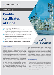 Title-case-study-quality-certificates-linde-210 Case study: Quality certificates at Linde