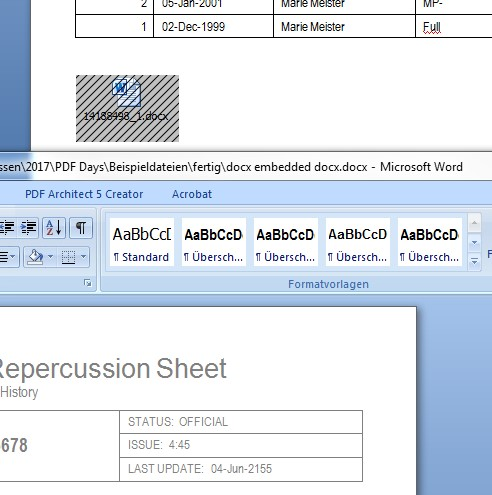 Wysiwyg-12 Archiving an Office Document with Embedded Files in PDF/A Format