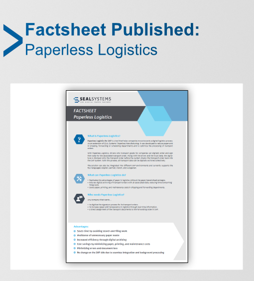 Paperless Logisitcs for SAP